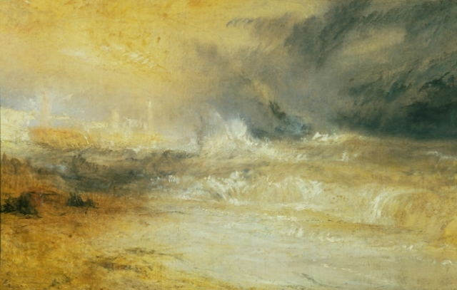 JMW Turner Waves Breaking on a Lee Shore at Margate ,circa 1840 Oil on canvas credit Tate, London 2010 SMALL