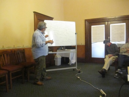David doing his presentation