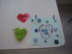 Felt hearts and paper ones