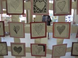Some of the heart quilt - thanks to Kylie for all her coordination an creative sklls here