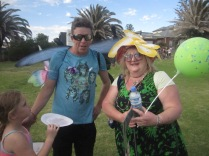 Dave with Donna, both very appropriately dressed
