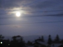 Full moon through wires from my window