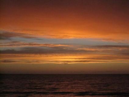 Sunset, no moon, vivid and fading