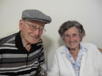 Dad and his sister Joan, who died last month aged 96