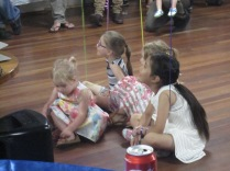 Some of the kids paying attention to the proceedings at the party!