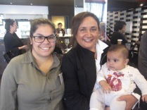 Kiara Milera (one of the film-makers) with Leanne Buckskin (producer and mentor) and bub in the foyer afterwards