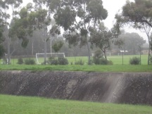 Sturt Creek (drain), looking across at the playing fields