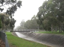 Mist in the morning, Sturt Creek/drain, taken from the linear park