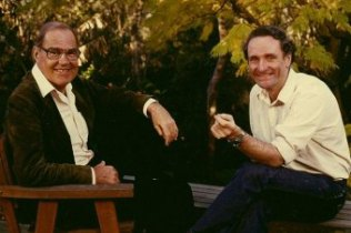 Peter Mason and Robin Williams of The Science Show in 1986