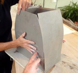 Building a slab pot