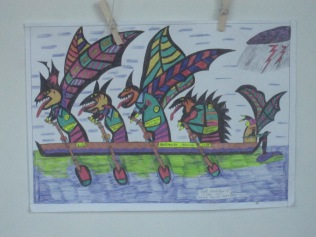 Dragons in rowboat