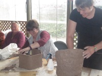 Andrea, Kylie (and hexagon pot) and Katrin (with textured pot)