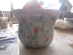 My pot (flowers and bees)