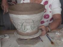Linda's pot, decorated