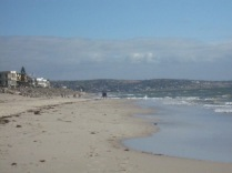 Long view of beach looking south