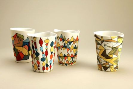 cups made at the jam factory