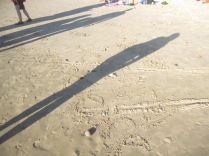 Messages in the sand (and shadows)