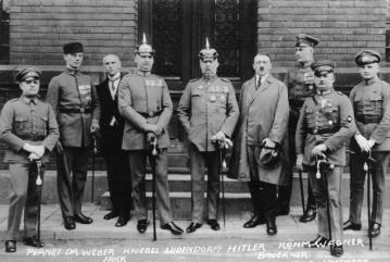 Defendants at the trial of those involved in the Beer Hall Putsch