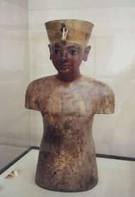 Wooden figure of Tutankhamen