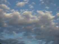 Clouds and evening blue sky