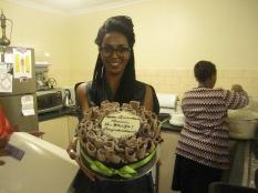 Celebration cake with Rania