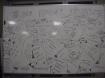 The board capturing some of the many many things that the community has contributed to and made happen over the years