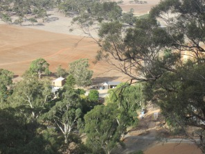 View of the farm where mum grew up, as seen from the top of the hill