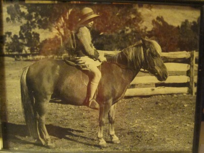 Mum on her horse Bobby ready to ride to school