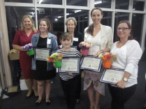 Some of the recipients of awards (including Margaret and Jenna)