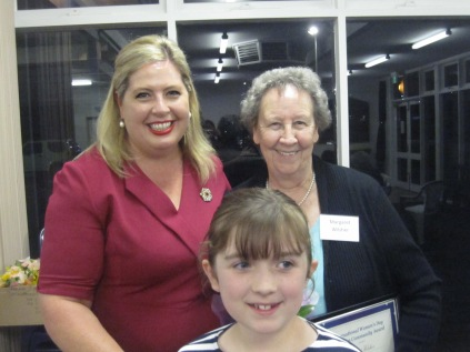 Katrine, Margaret and Jenna - oldest and youngest award recipients this year.