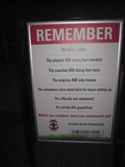 Fantastic signage at the entrance to the club