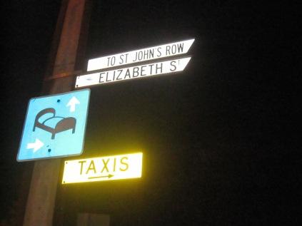 Street sign, Glenelg