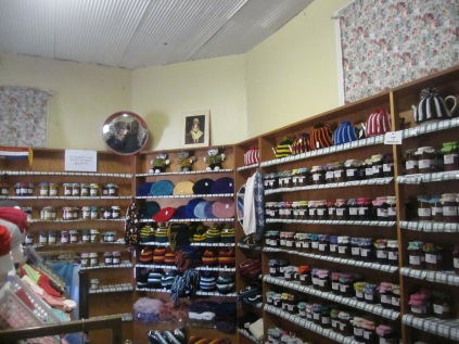 The jams and pickles section and beanies in football colours (Mannum is green and yellow)