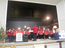 The concert band in action