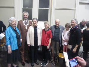 Official party - Josephine, the mayor, Jeanette, Connor, Ric, Brooklyn, Rhonda