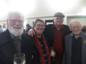 Some happy attendees - don't know all the names - Tom on the left, dad on the right