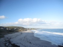 Looking along the northern beach - morning