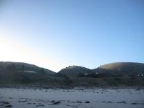 Hills behind the beach
