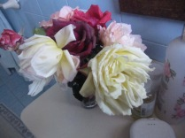 Another view of the roses in my bathroom