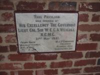 Foundation stone at the Glenelg Oval