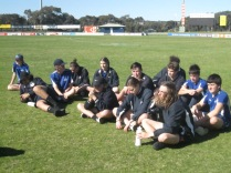 Umpires from the local high school (Wirreanda)