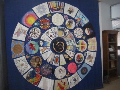 Mandala, sewn