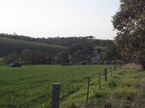 Looking down towards the township from cemetery hill