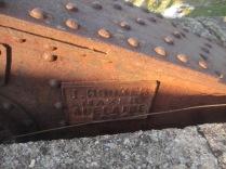 Maker's mark on the bridge