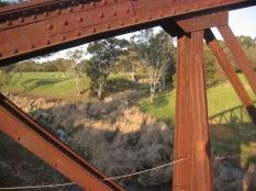 Through the bridge - east (not also Masterman's cows)