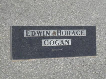 Ted Cogan's gravestone