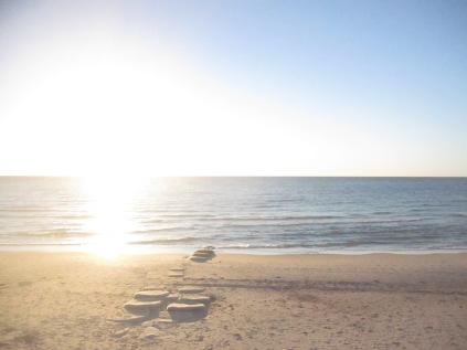 Sun glare over the sea