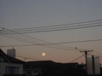 Moon between the wires