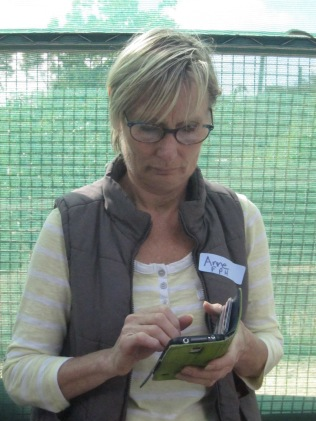 Anne from FMC and her phone
