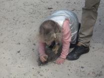 Bev's grandie digging in the sand